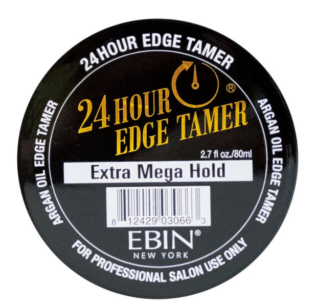 Ebin 24 Hour Edge Tamer. Extreme Firm Hold. Extra Mega Hold. 2.7 oz/80ml.