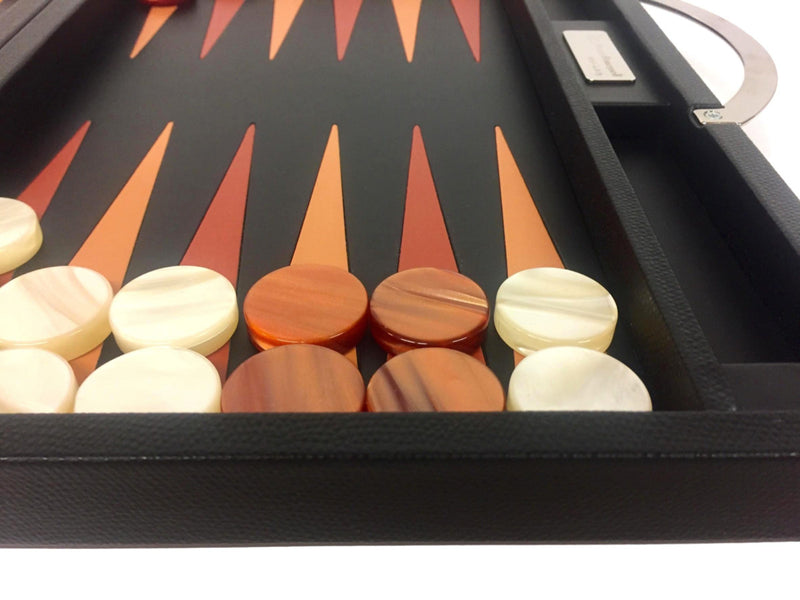 Backgammon en Cuir grainé - Buffle