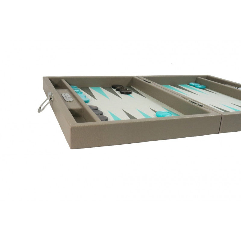Backgammon Hector Saxe Medium - Buffle beige