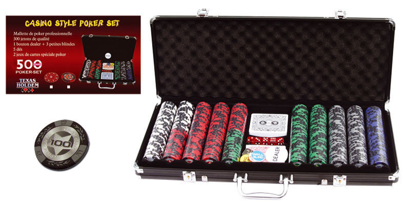 Mallette de 500 jetons - Poker Club - 14,5 gr