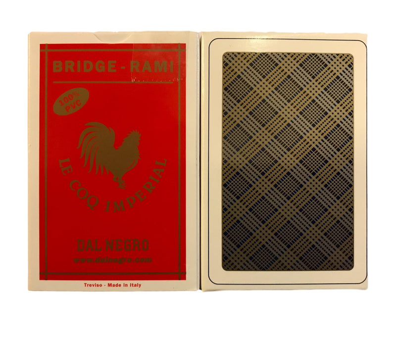 Cartes Bridge-Rami - 100% plastique (1 jeu)