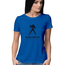 Load image into Gallery viewer, Aquarius Zodiac Sign Half Sleeve Women's T-Shirt