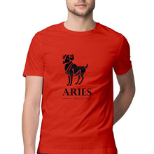 Load image into Gallery viewer, Aries  Zodiac Sign Half Sleeve Men's T-Shirt