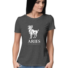 Load image into Gallery viewer, Aries Zodiac Sign Half Sleeve Women's T-Shirt