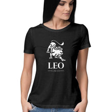 Load image into Gallery viewer, Leo Zodiac Sign Half Sleeve Women's T-Shirt