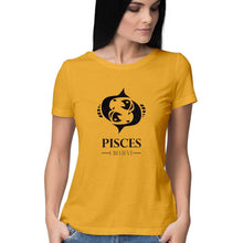 Load image into Gallery viewer, Pisces Zodiac Sign Half Sleeve Women's T-Shirt