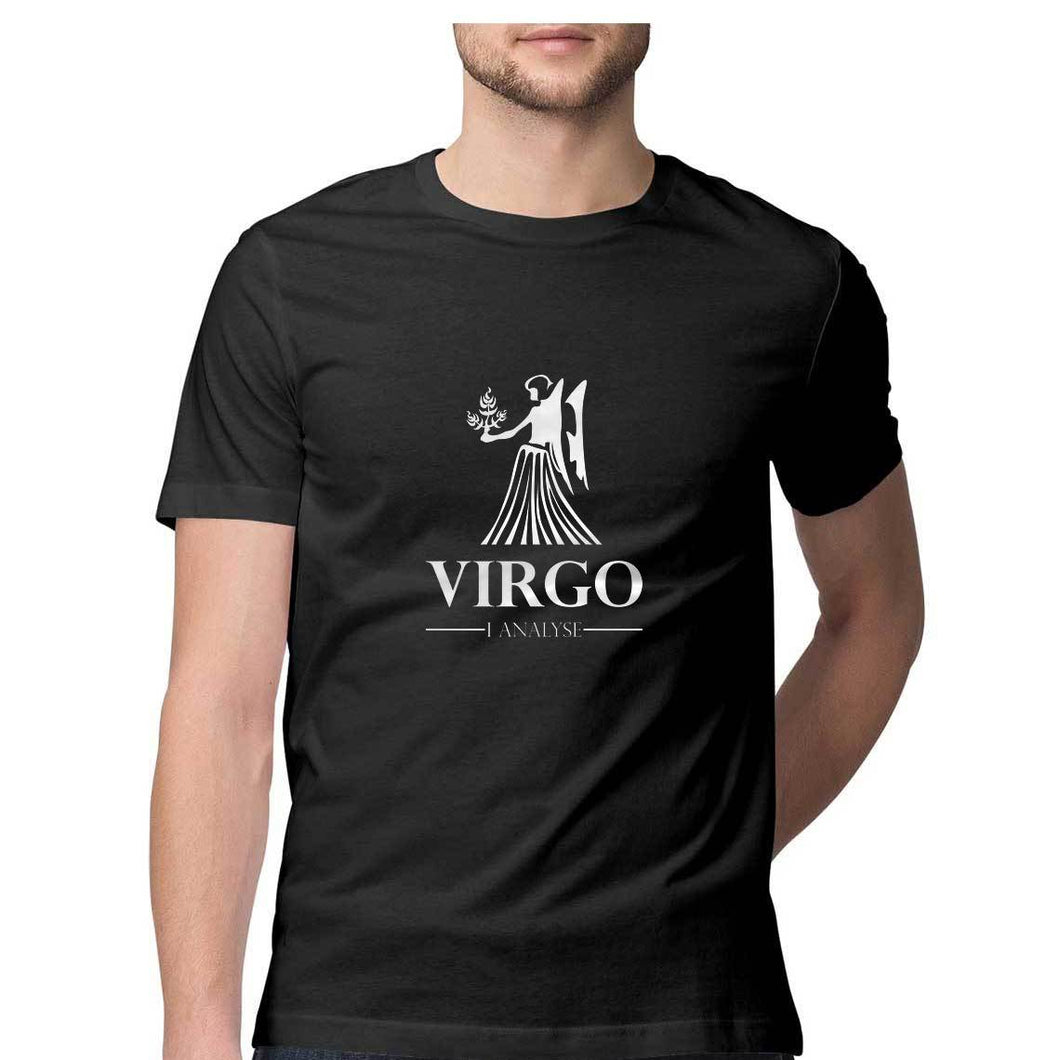 Virgo Zodiac Sign Half Sleeve Men's T-Shirt