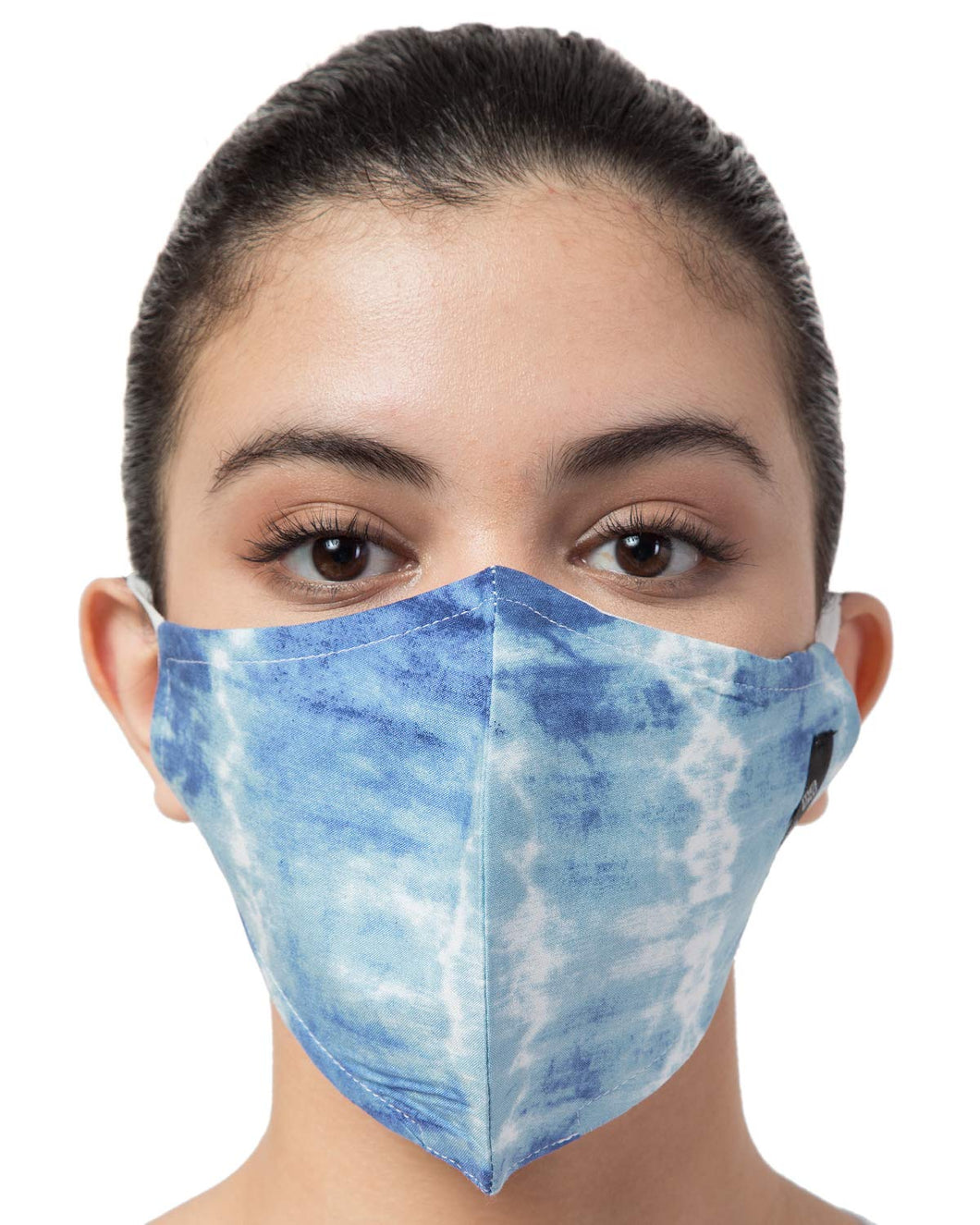 BEYOND WORDS PRE- SANITIZED READY TO WEAR FASHION MASK BLUE TIE DYE