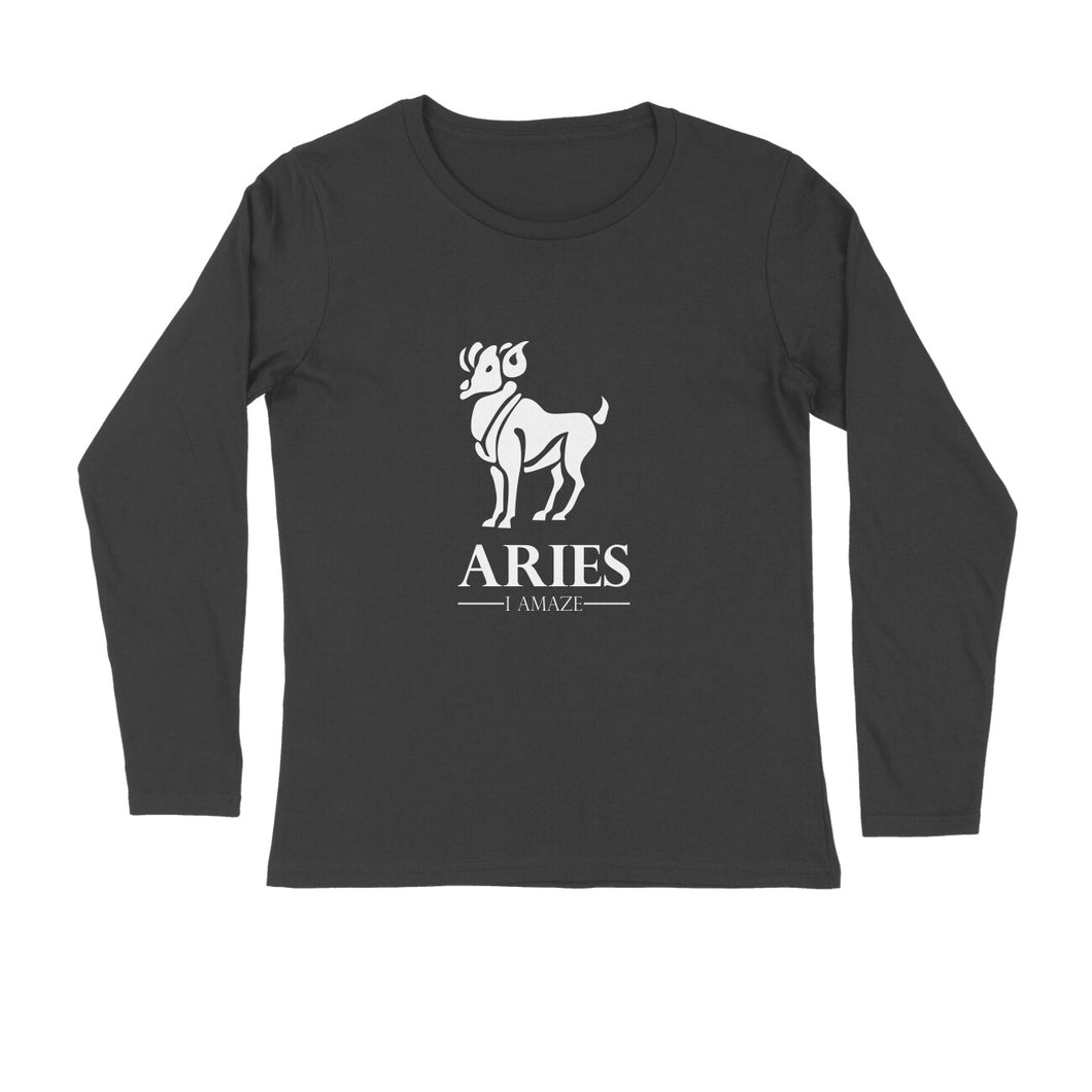 Aries Zodiac Sign Full Sleeve T-shirt
