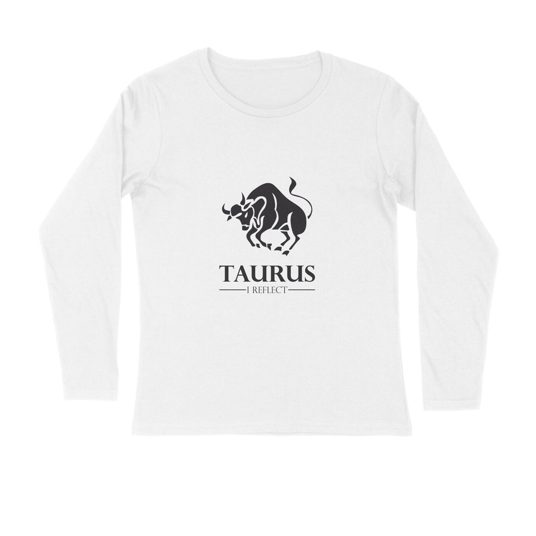 Taurus Zodiac Sign Full Sleeve T-shirt