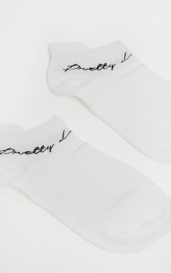 Prettylittlething White Trainer Socks - fashion.type.com