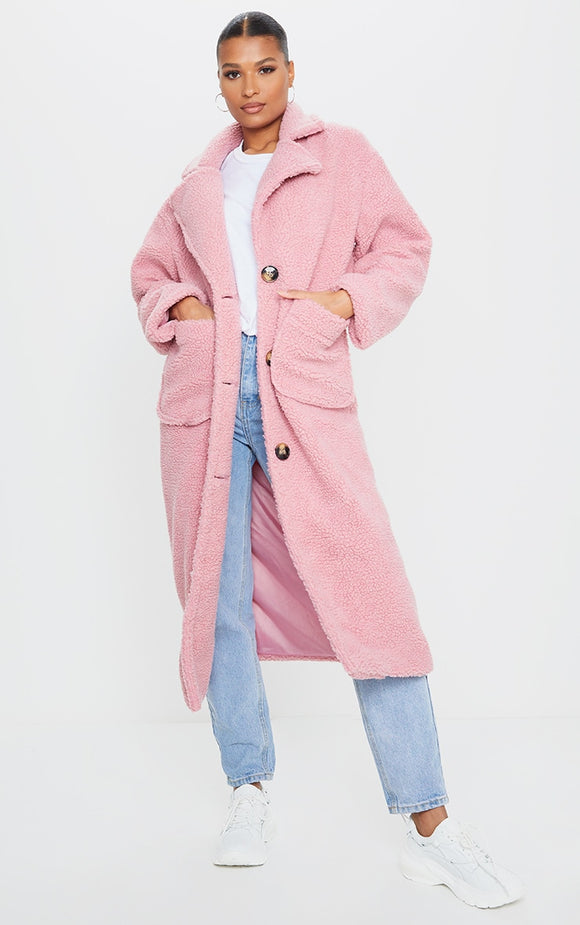 Rose Maxi Borg Coat - fashion.type.com