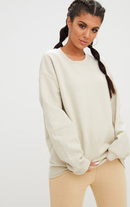 Sand Ultimate Oversized Sweater. Tops - fashion.type.com