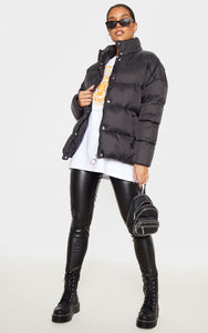 Black Oversized Boyfriend Puffer - fashion.type.com