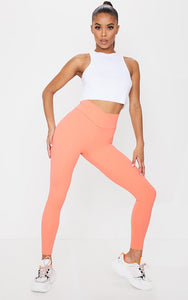 Plt Orange Sculpt Luxe Ruched Bum Gym Legging - fashion.type.com