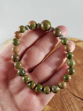 Load image into Gallery viewer, Unakite Jasper Mala Bracelet! ~Witch, Mystic
