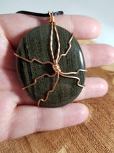 Load image into Gallery viewer, Goldsheen Obsidian, Copper Wire Wrapped Pendant! ~Witch, Mystic, Reiku