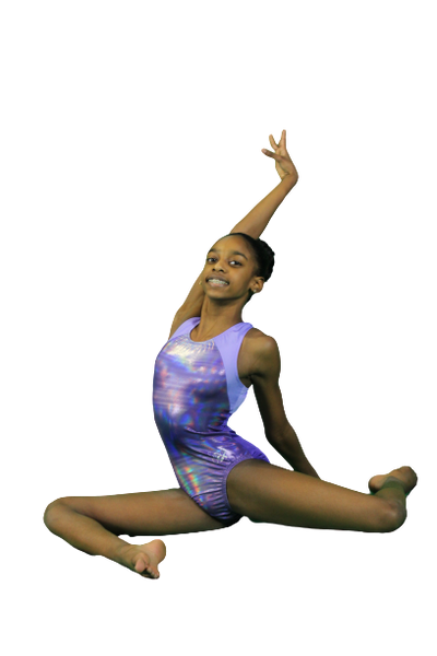 Simone Pretty in Purple Leotard