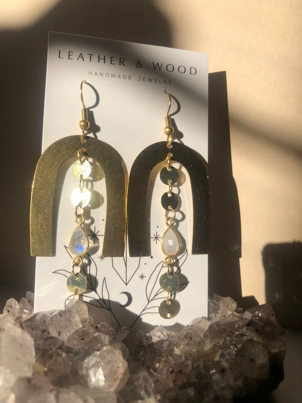 Moonstone Dangle Arches