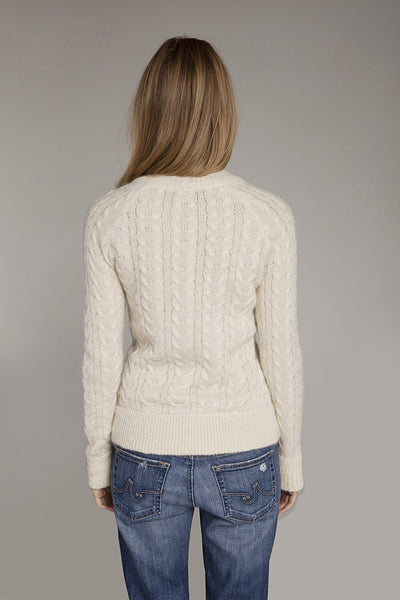 Sweater - White Mohair