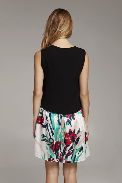 Dress - Black Flower