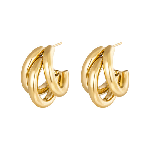 Hoop earrings Trois