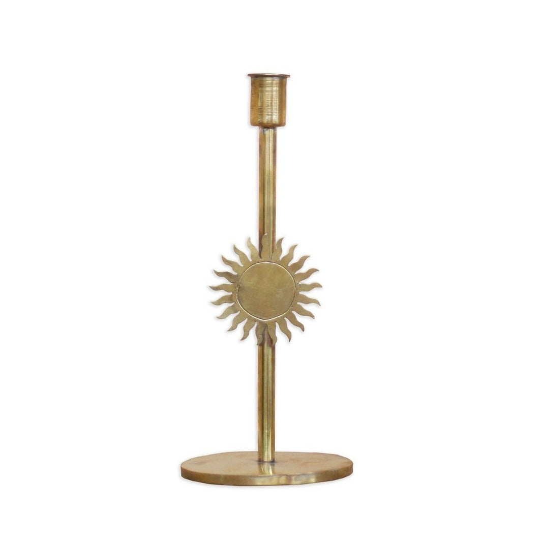 House_of_desh_Manana_manana_brass_candle_holder_sun