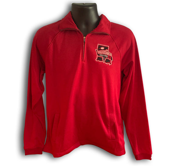 Long Sleeve Drillers 1/4 Zip (Red)