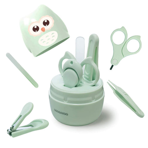 4-in-1 Baby Nail Kit - Green Owl