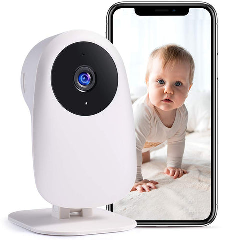 Baby Monitor Camera - Unlimited Cloud Storage - White