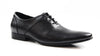 Mens Zasel Levi Black Leather Lace Up Shoes