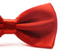 Mens Red Orange Solid Plain Colour Bow Tie