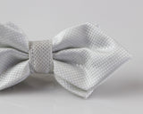Mens White Diamond Shaped Checkered Bow Tie