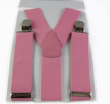 Extra Wide Heavy Duty Adjustable 120cm Baby Pink Adult Mens Suspenders