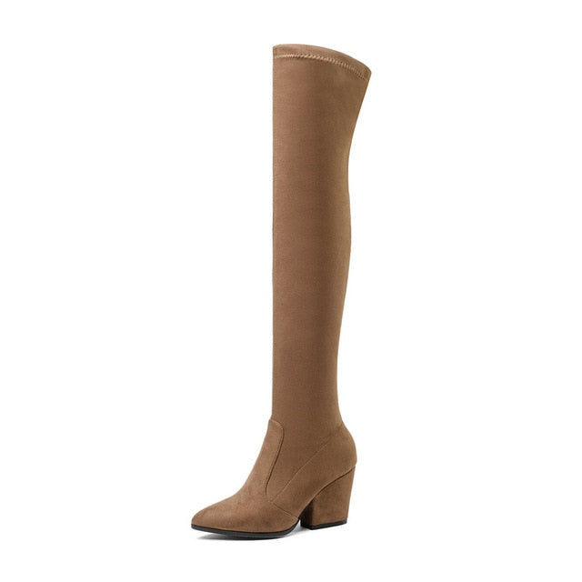 Women's Over The Knee High Pointed Toe Boots