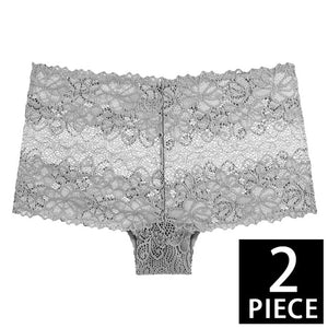 2pcs Floral Lace Panty Set