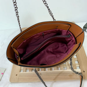 Chain PU Leather Handbag