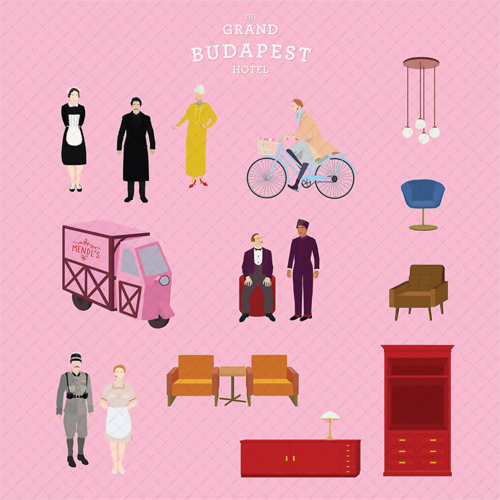 Flat Vector The Grand Budapest Hotel Characters - Toffu Co