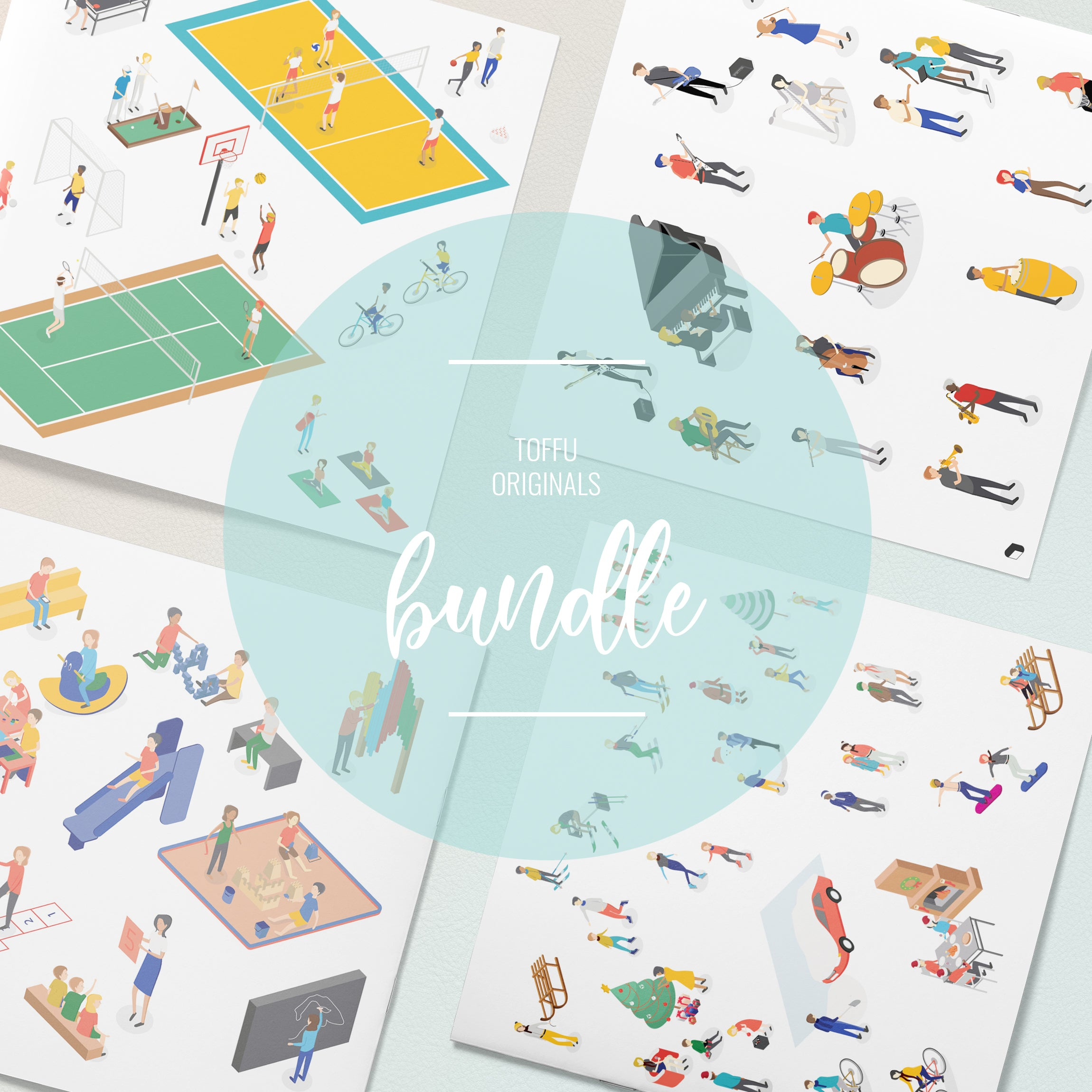 Axonometric People Bundle - Toffu Co