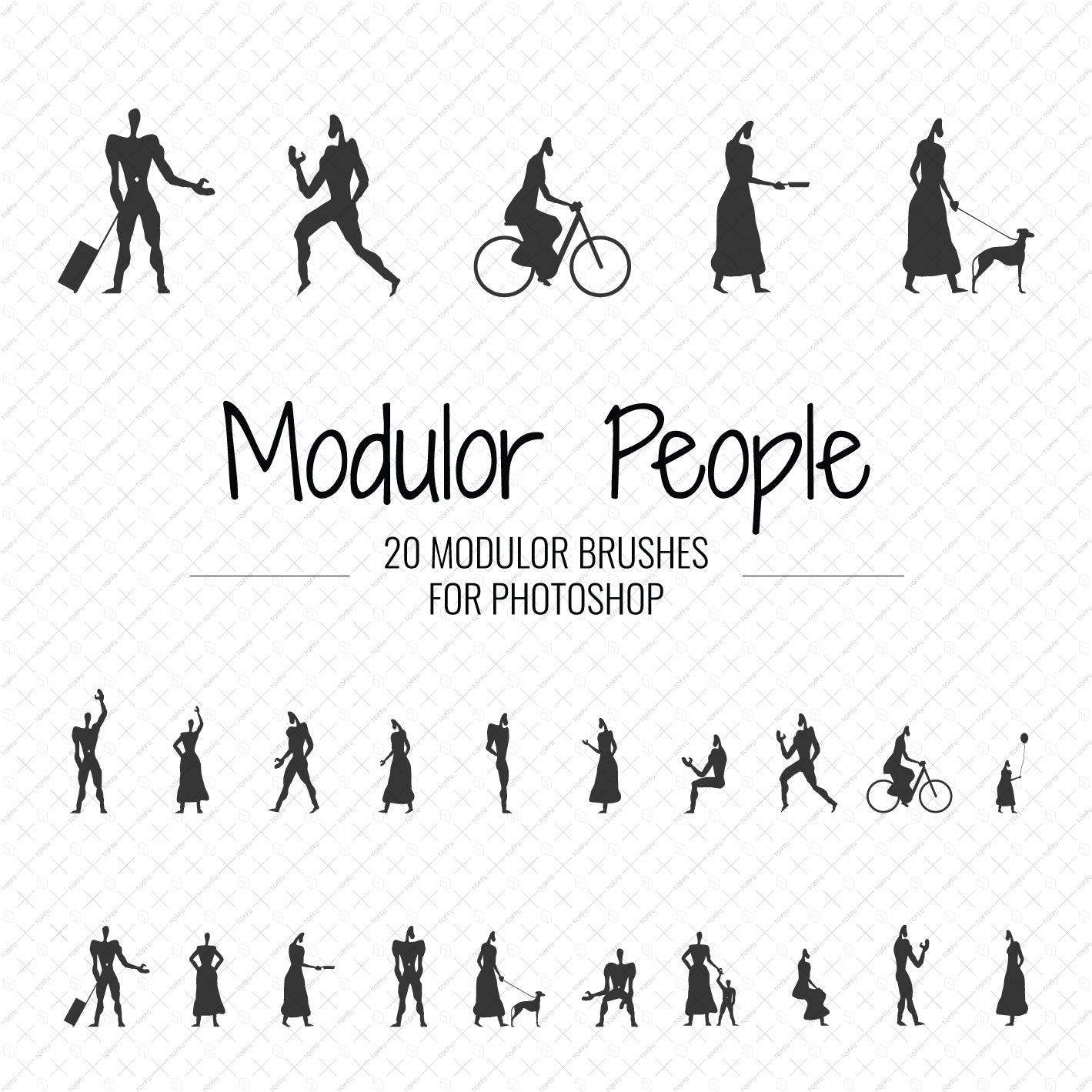 Brush Modulor People - Toffu Co