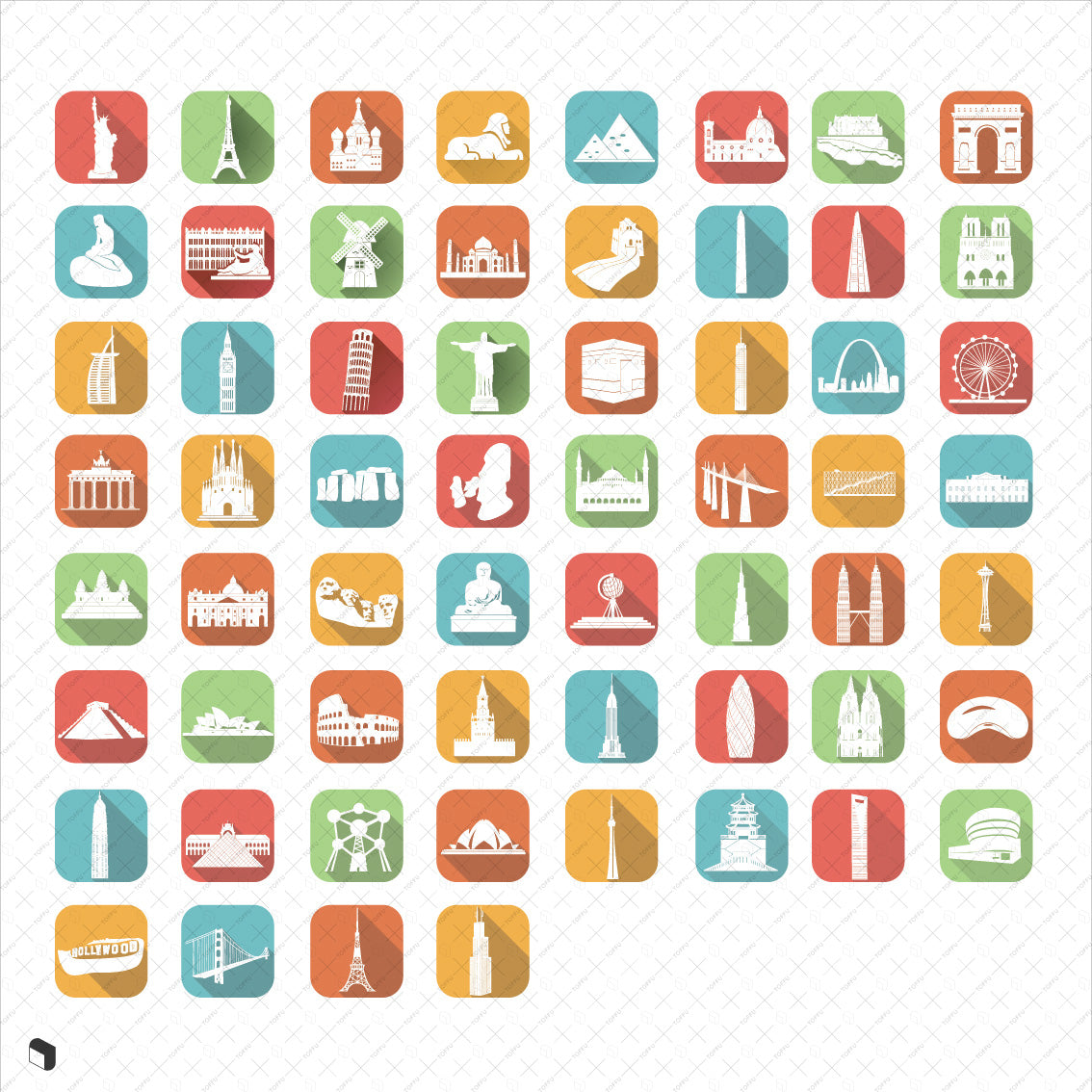 Monument Flat Icons - Toffu Co