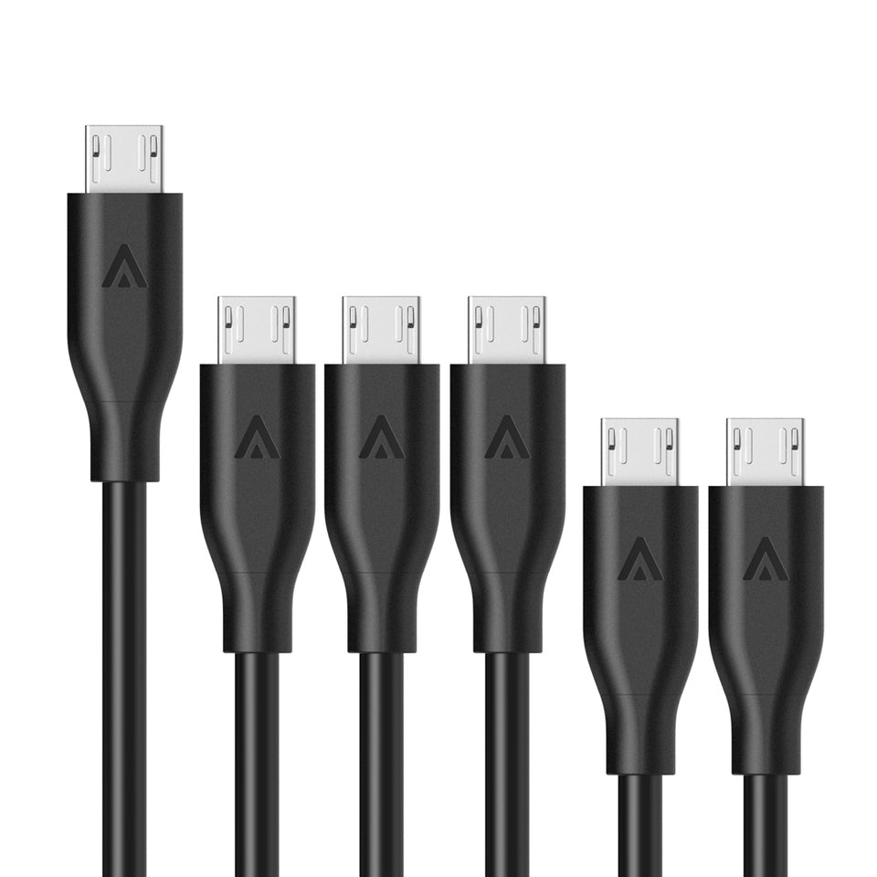 [6-Pack] PowerLine Micro USB (2x0.3m + 3x0.9m + 1x1.8m)