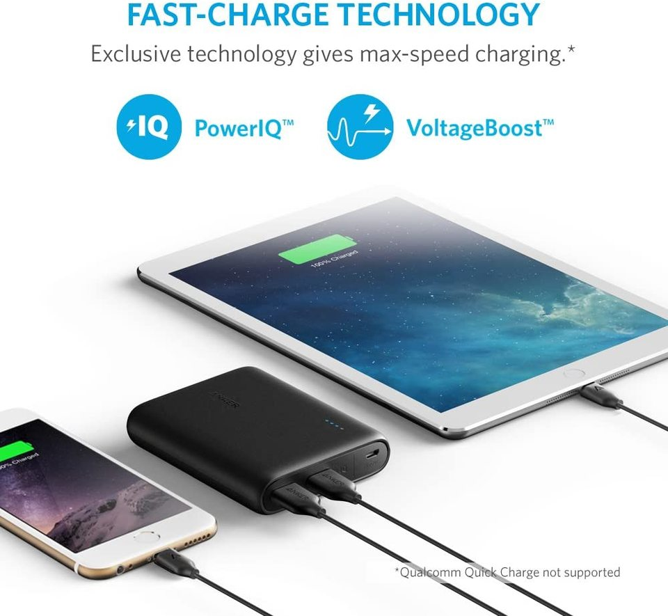 PowerCore 13000mAh Powerbank Externer Akku 2-Port 3A