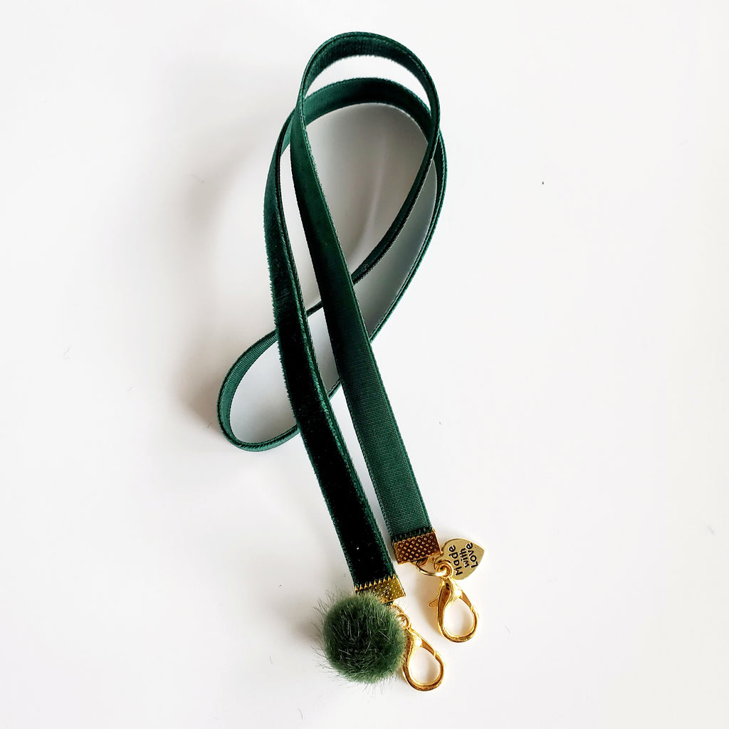 Mask Lanyard - Green PomPom - HIRMIE