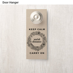 PANDEMOMENT - KEEP CALM (door hangar)