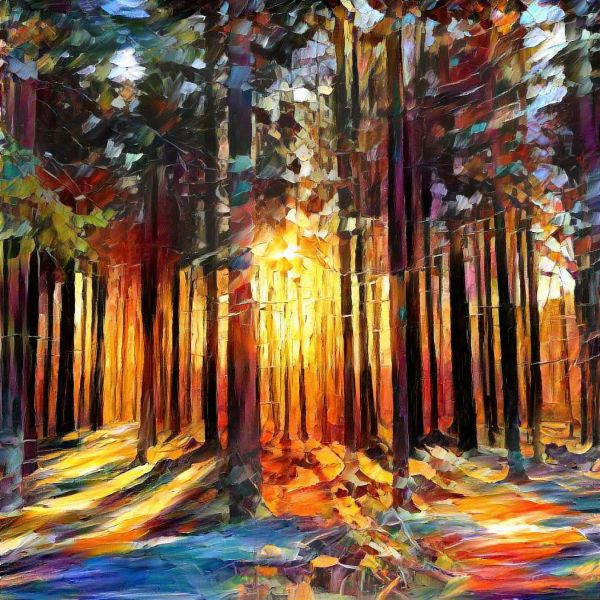 Forest sunrise