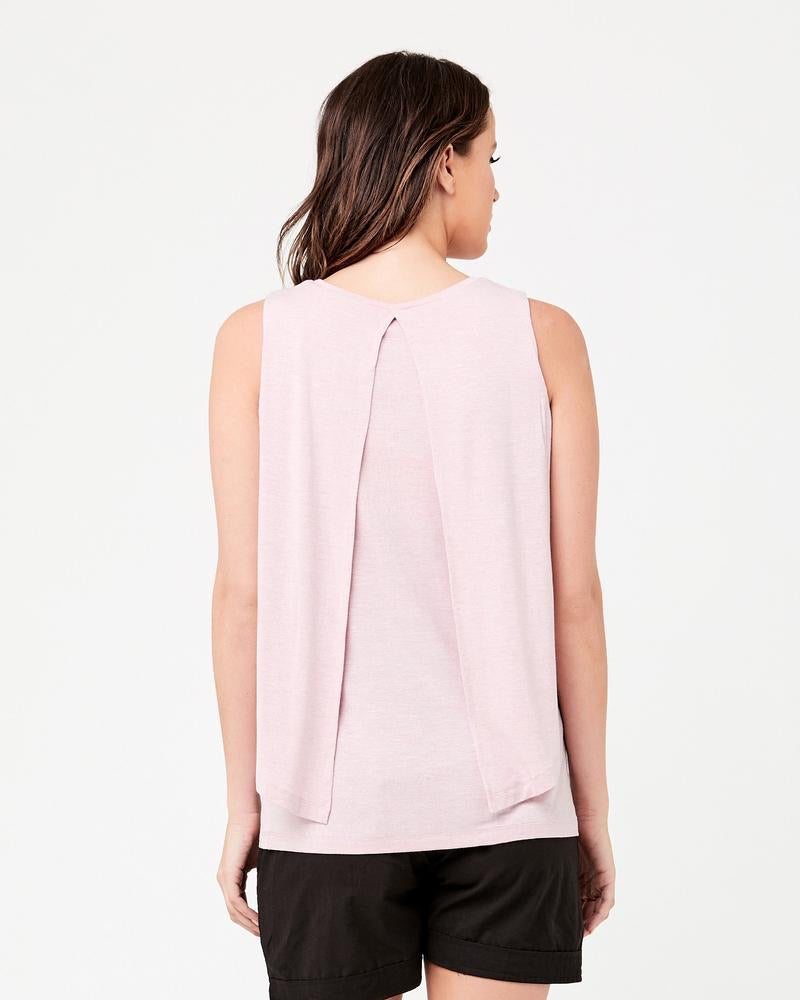 Summer Swing Back Nursing Tank - Dusty Pink