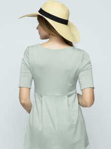 Pleated Maternity Top - Mint