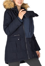 Load image into Gallery viewer, SARA- DOWN FILLED 3 IN 1 MATERNITY PARKA - NAVY