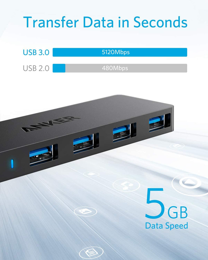 4-Port Ultra Slim USB 3.0 Data Hub